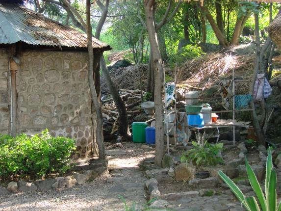 Küche des Gästehauses auf Chizumulu Island.